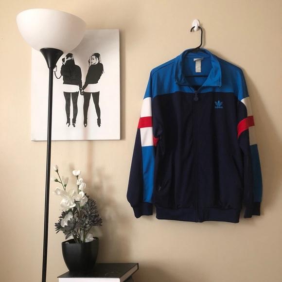 online store bc94f ffebb adidas Other - True Vintage adidas color block full zip jacket